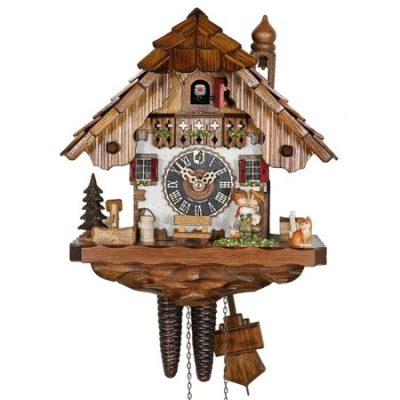 1 day cuckoo clock with moving kissing couple
