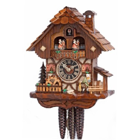 1 Day Musical Cuckoo Clock Peddler 6712T — Clocks.com.au