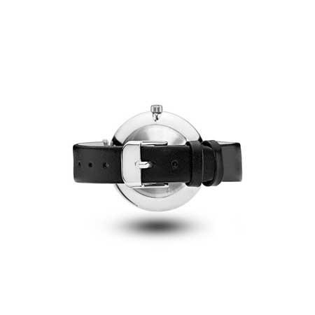Mockberg Silver Tone With Black Strap - ASTRID