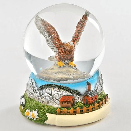 Eagle Snowdome Poly Souvenir