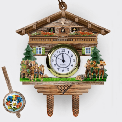 Hanging poly clock