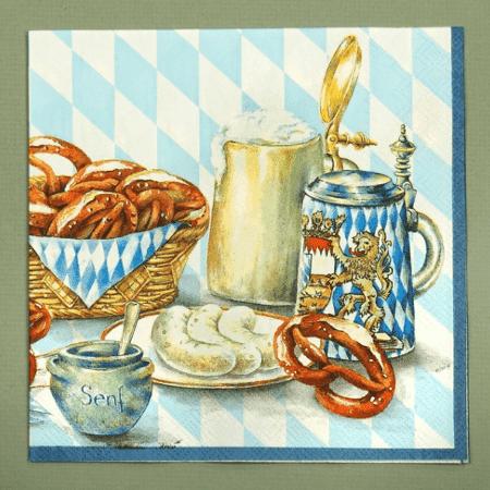 pretzel beer serviettes