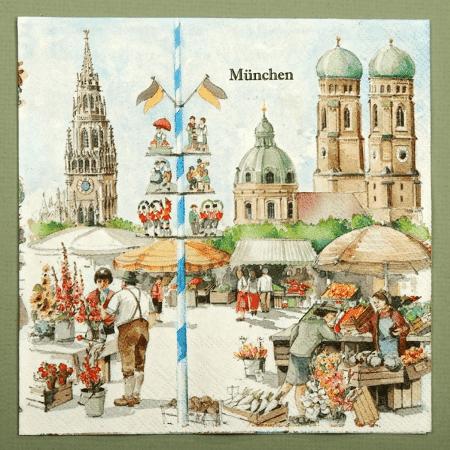 Munich market serviettes