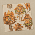 cuckoo clock serviettes