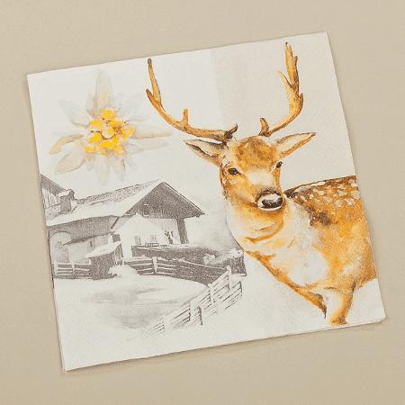Chalet deer serviettes