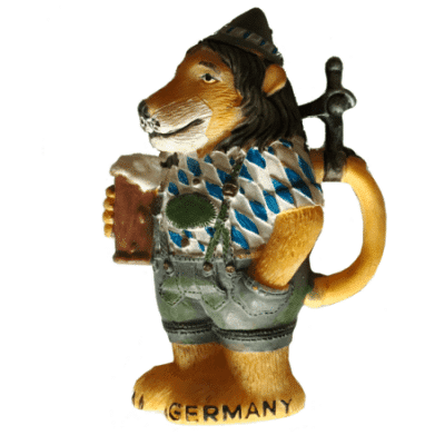 Lion Bavarian magnet